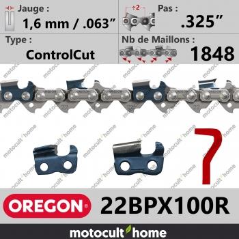 """Rouleau de Chaîne de tronçonneuse Oregon 22BPX100R .325"""" 1,6mm/.063andquot; 1848 maillons-30"""