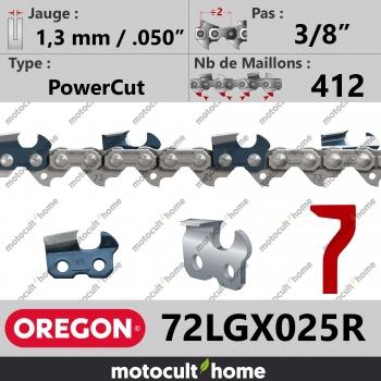 """Rouleau de Chaîne de tronçonneuse Oregon 72LGX025R 3/8"""" 1,3mm/.050andquot; 412 maillons-30"""