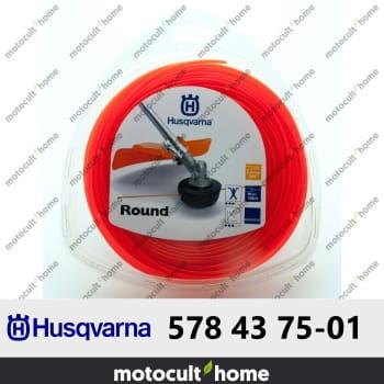 Bobine de fil rond Husqvarna 2,4mm 90m-30