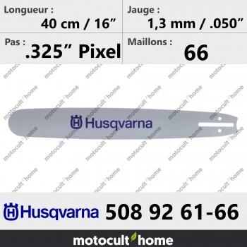 Guide de tronçonneuse Husqvarna 508926166 ( 5089261-66 / 508 92 61-66 ) 40 cm-30
