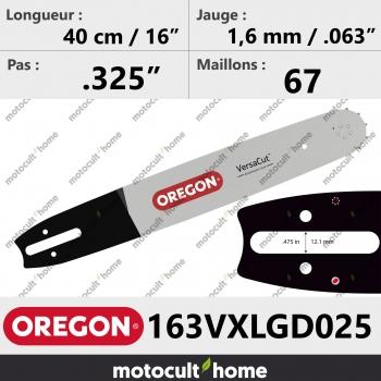 Guide de tronçonneuse Oregon 163VXLGD025 Pro-Lite 40 cm (remplace 163SLGD025 )-30