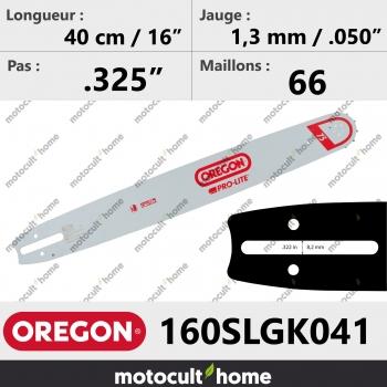 Guide de tronçonneuse Oregon 160SLGK041 Pro-Lite 40 cm-30