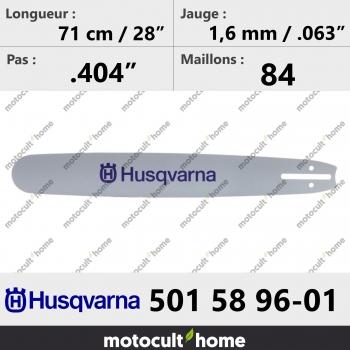 Guide de tronçonneuse Husqvarna 501589601 ( 5015896-01 / 501 58 96-01 ) 71 cm-30