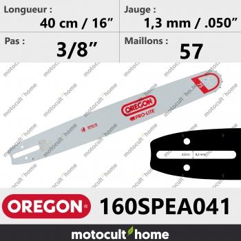 Guide de tronçonneuse Oregon 160SPEA041 Pro-Lite 40 cm-30
