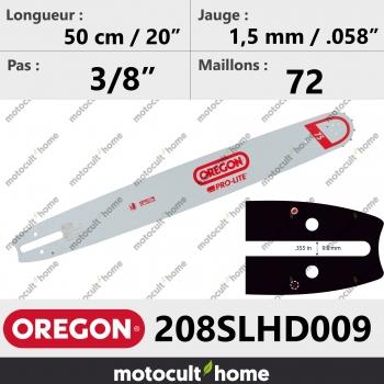 Guide de tronçonneuse Oregon 208SLHD009 Pro-Lite 50 cm-30