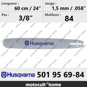 Guide de tronçonneuse Husqvarna 501956984 ( 5019569-84 / 501 95 69-84 ) 60 cm-30