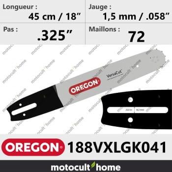 Guide de tronçonneuse Oregon 188VXLGK041 VersaCut 45 cm-30
