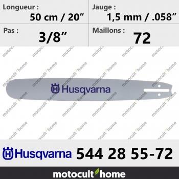 Guide de tronçonneuse Husqvarna 544285572 ( 5442855-72 / 544 28 55-72 ) 50 cm-30