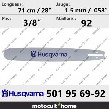Guide de tronçonneuse Husqvarna 501956992 ( 5019569-92 / 501 95 69-92 ) 72 cm-30