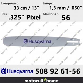 Guide de tronçonneuse Husqvarna 508926156 ( 5089261-56 / 508 92 61-56 ) 32 cm-30