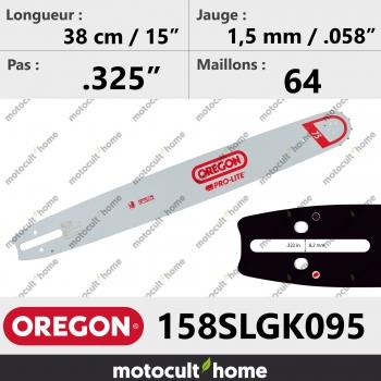 Guide de tronçonneuse Oregon 158SLGK095 Pro-Lite 38 cm-30