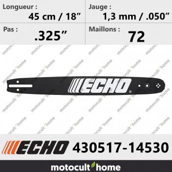Guide de tronçonneuse Echo 43051714530 ( 430517-14530 ) 45 cm-30