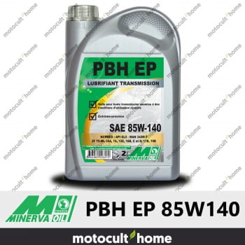 Huile minérale Minerva Oil PBH EP 85W140 pour boîtes et ponts 2L-30