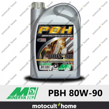 Huile minérale Minerva Oil PBH EP 80W-90 pour boîtes et ponts 2L-30