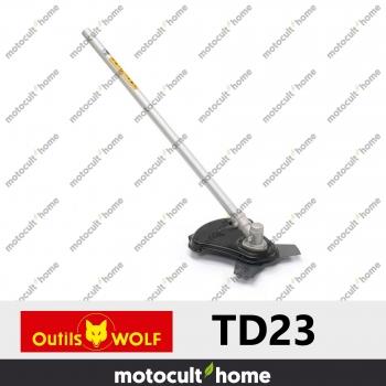 Lame de coupe Wolf TD23 3 dents sur tube droit-30