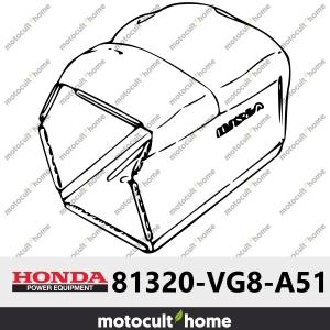 Tissu du bac de ramassage Honda 81320VG8A51 (81320-VG8-A51 )-20