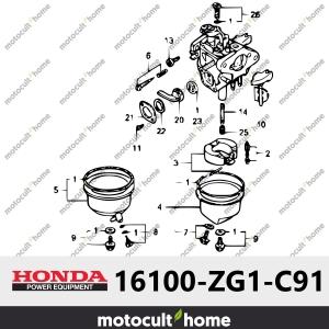 Ensemble Carburateur Honda 16100ZG1C91 (16100-ZG1-C91) (BF05C B)-20