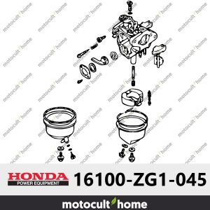 Ensemble Carburateur Honda 16100ZG1045 ( 16100-ZG1-045 ) (BF05A F)-20