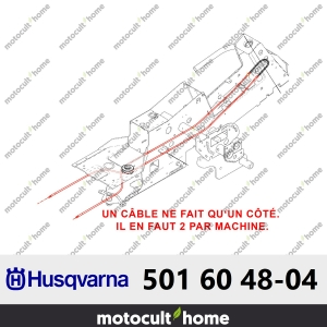 Câble complet de direction Husqvarna 501604804 ( 5016048-04 / 501 60 48-04 )-20