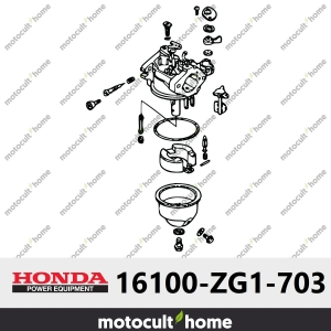 Carburateur complet Honda 16100ZG1703 (16100-ZG1-703)-20