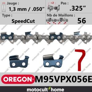 """Chaîne de tronçonneuse Oregon M95VPX056E DuraCut .325"""" 1,3mm/.050andquot; 56 maillons-20"""