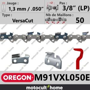 """Chaîne de tronçonneuse Oregon M91VXL050E DuraCut 3/8"""" (LP) 1,3mm/.050andquot; 50 maillons-20"""