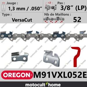 """Chaîne de tronçonneuse Oregon M91VXL052E DuraCut 3/8"""" (LP) 1,3mm/.050andquot; 52 maillons-20"""