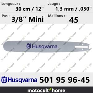 Guide de tronçonneuse Husqvarna 501959645 ( 5019596-45 / 501 95 96-45 ) 30 cm-20