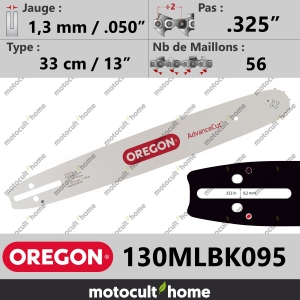 "Guide de tronçonneuse Oregon 130MLBK095 AdvanceCut 33 cm .325""-20"
