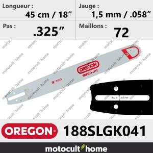 Guide de tronçonneuse Oregon 188SLGK041 Pro-Lite 45 cm-20