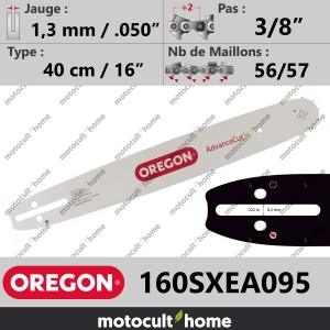 "Guide de tronçonneuse Oregon 160SXEA095 AdvanceCut SX 40 cm 3/8""-20"