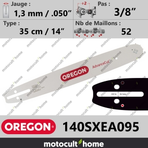 "Guide de tronçonneuse Oregon 140SXEA095 AdvanceCut 35 cm 3/8""-20"