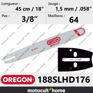 Guide de tronçonneuse Oregon 188SLHD176 Pro-Lite 45 cm-20