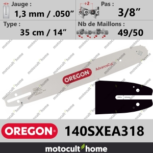 "Guide de tronçonneuse Oregon 140SXEA318 AdvanceCut 35 cm 3/8""-20"