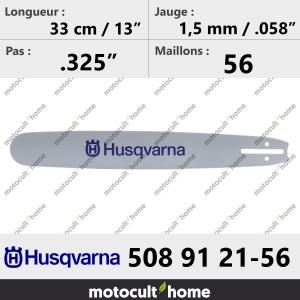Guide de tronçonneuse Husqvarna 508912156 ( 5089121-56 / 508 91 21-56 ) 33 cm-20