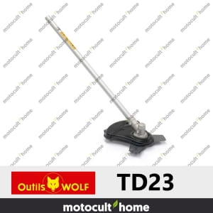 Lame de coupe Wolf TD23 3 dents sur tube droit-20