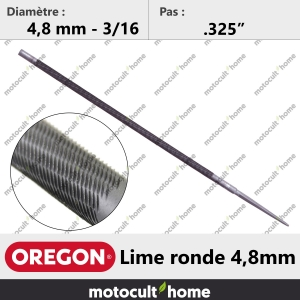 "Lime ronde Oregon 4,8 mm (3/16"")-20"