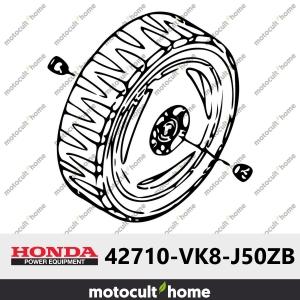 Roue arrière complète Honda 42710VK8J50ZB ( 42710-VK8-J50ZB )-20