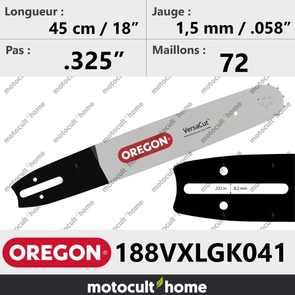 Guide de tronçonneuse Oregon 188VXLGK041 VersaCut 45 cm-20